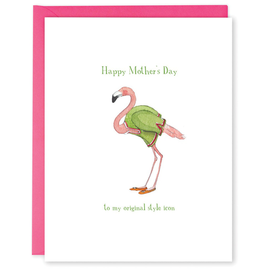 Style Icon Flamingo Mom Card