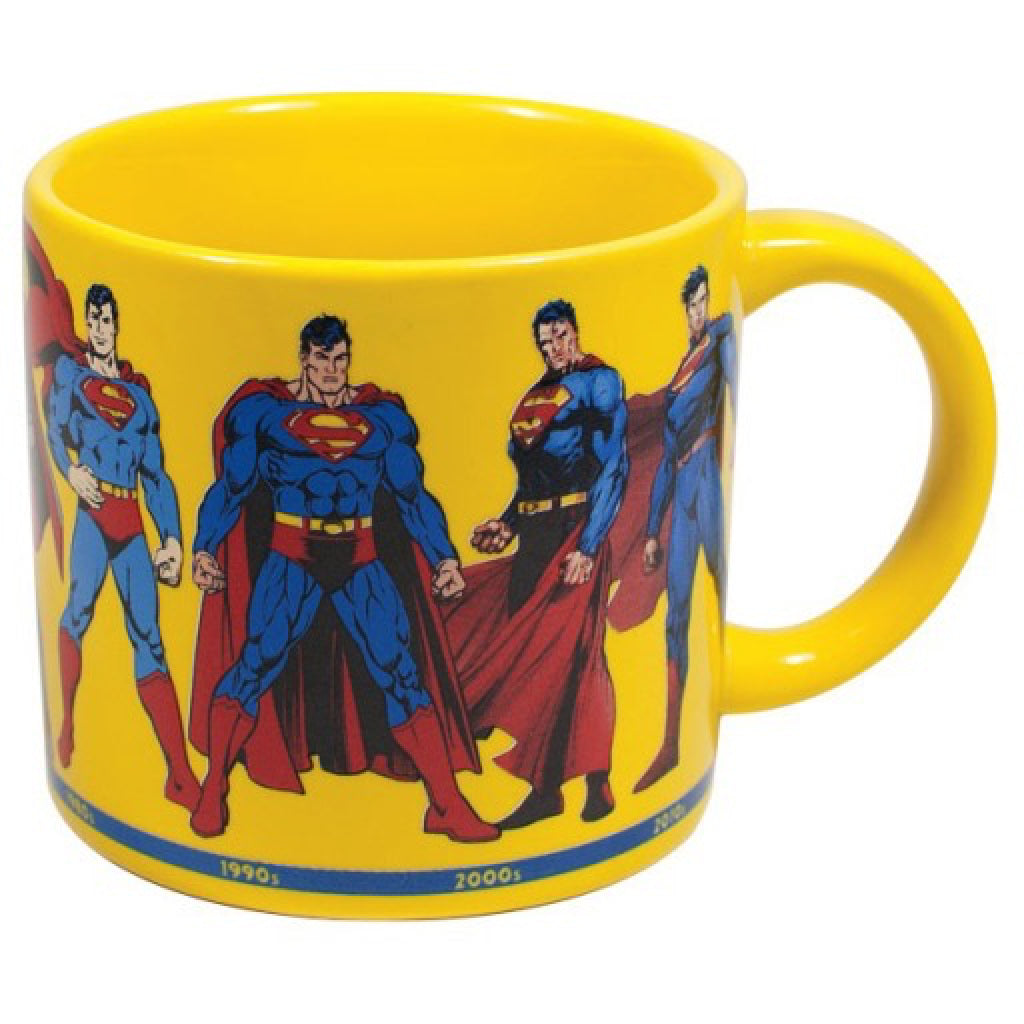 Superman Through the Years Mug back
