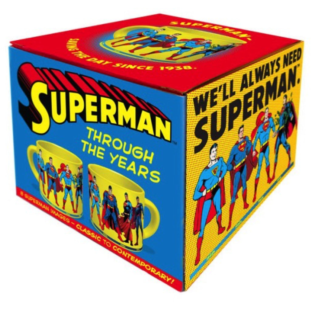 Superman Through the Years Mug box