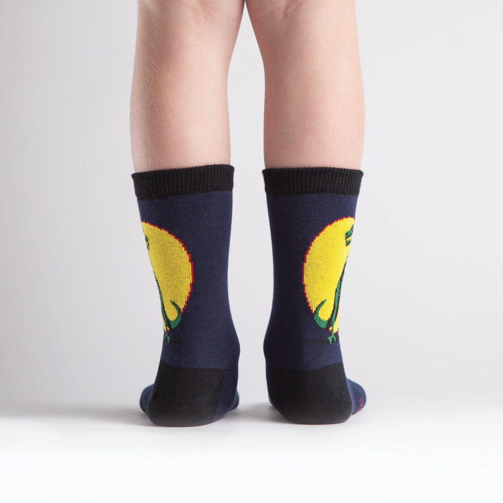 T-Rex Junior Crew Socks back