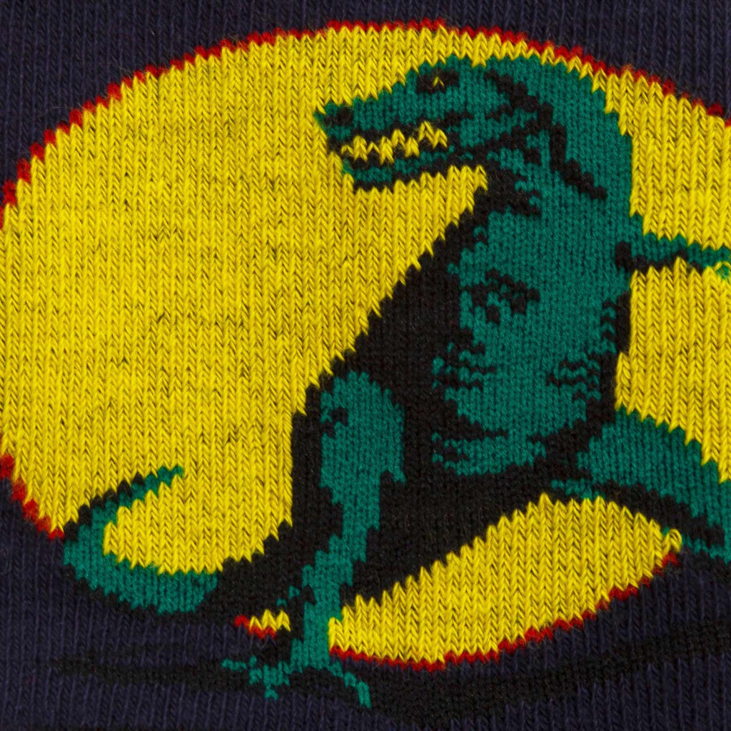 T-Rex Junior Crew Socks close-up