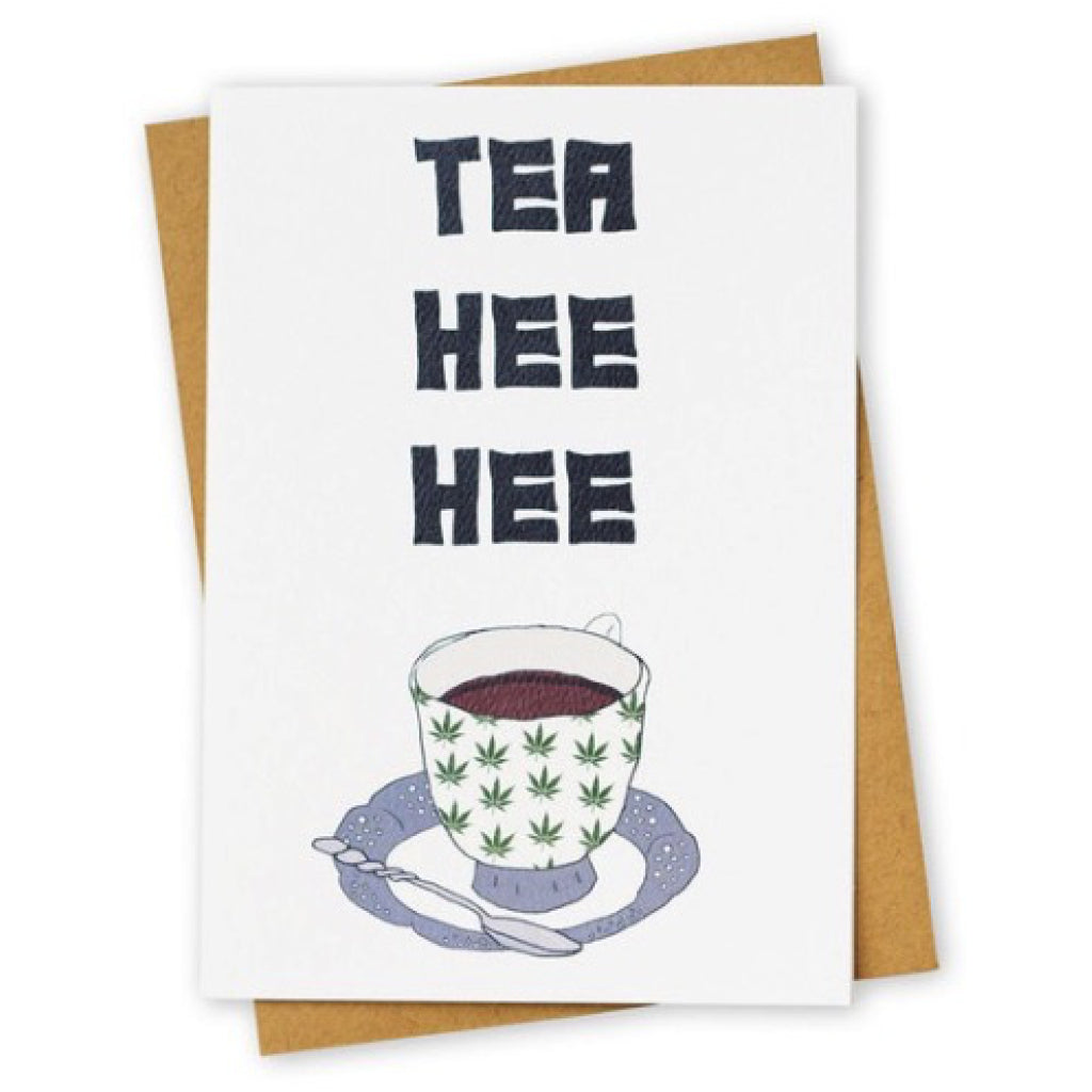 Tea Hee Hee Greeting Card