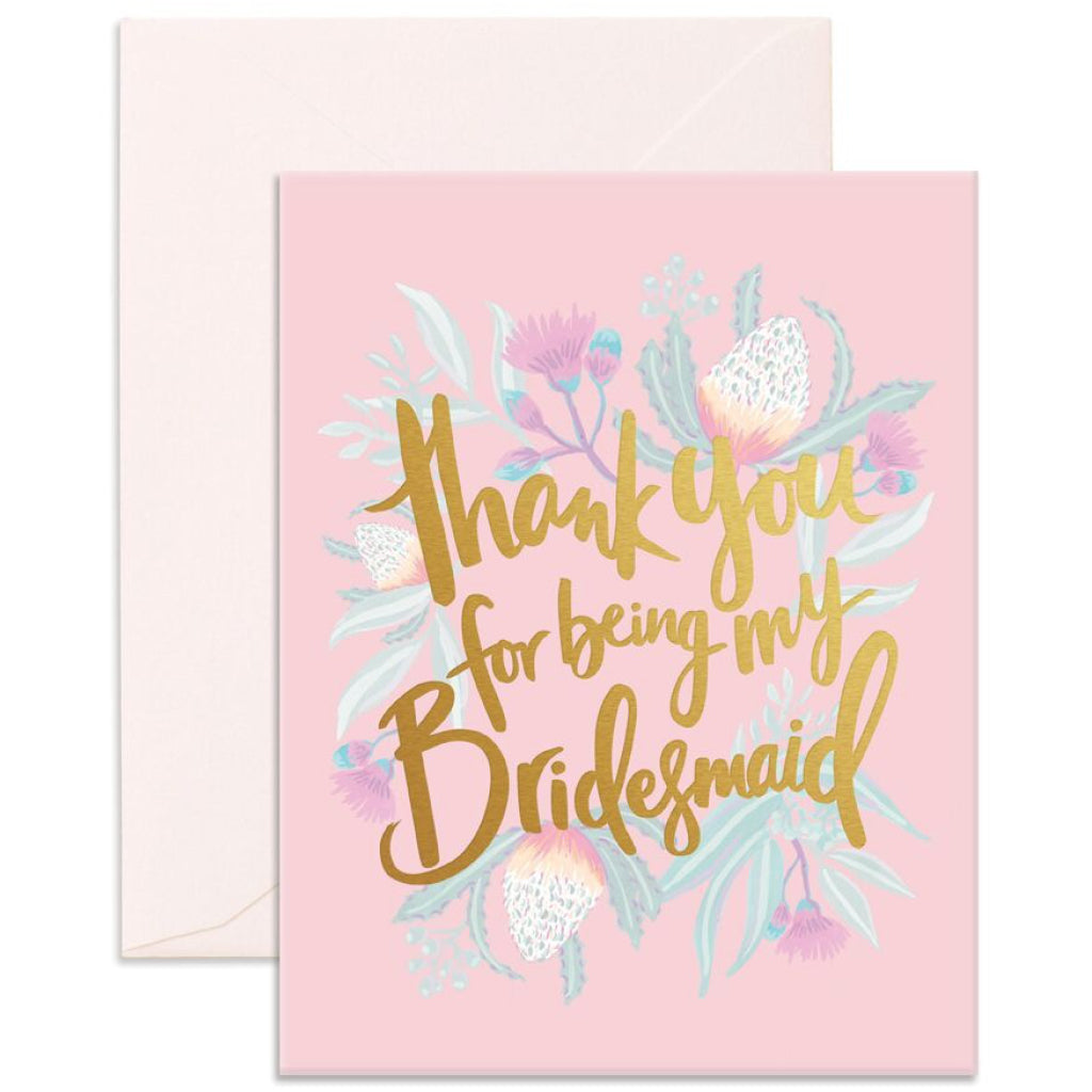 thank you bridesmaid card by fox fallow outer layer