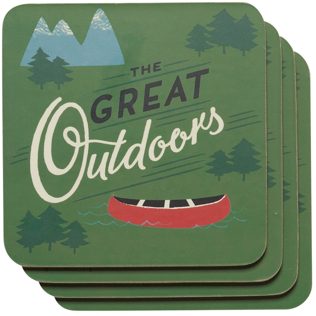 The Great Outdoors Coasters Set of 4