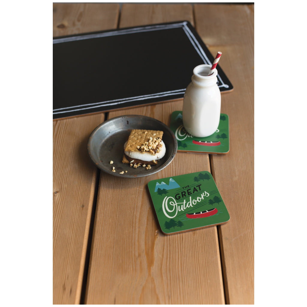 The Great Outdoors Coasters Set of 4 lifestyle