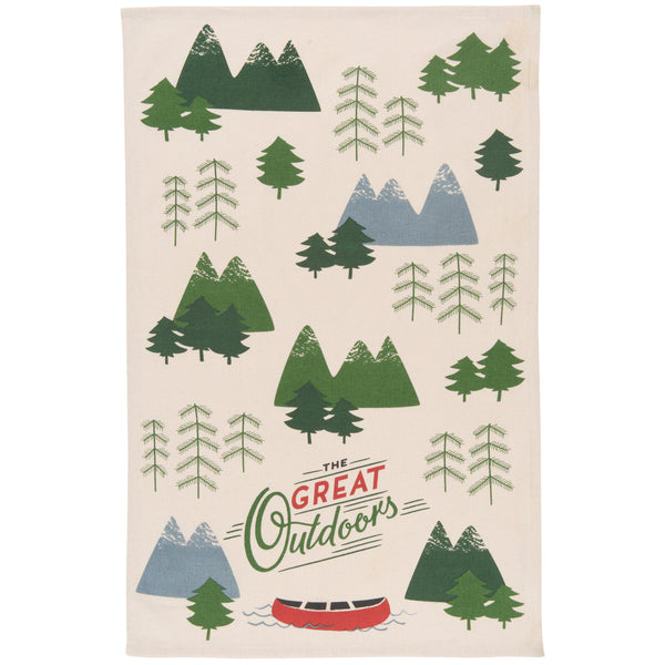 The Great Outdoors Tea Towel