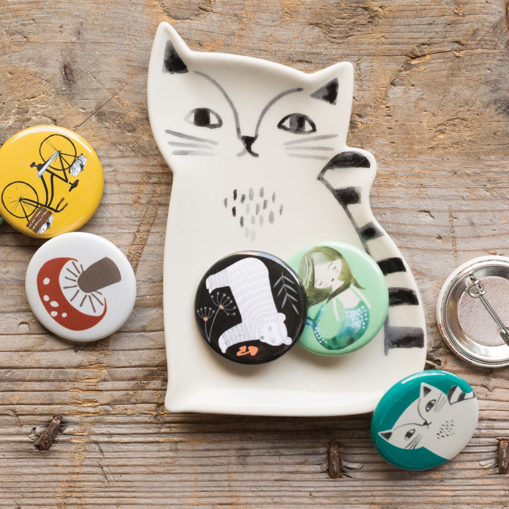 Trinket Tray Ceramic Cat lifestyle
