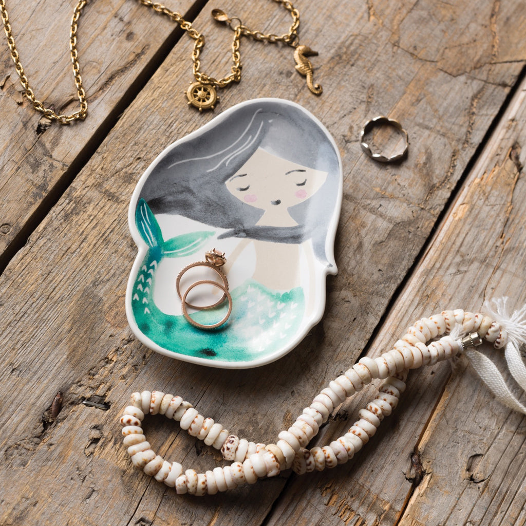 Trinket Tray Ceramic Mermaid lifestyle