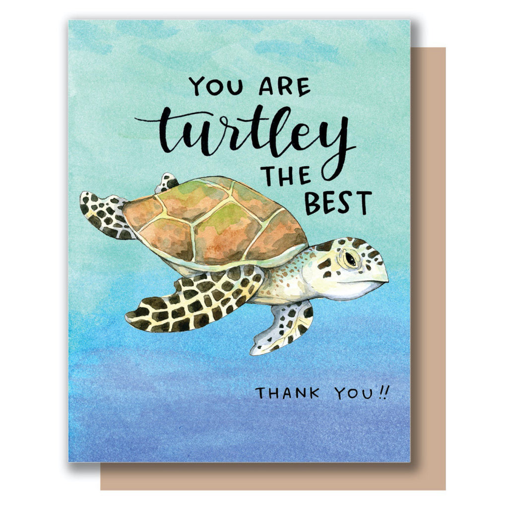 Turtley Thank You Card