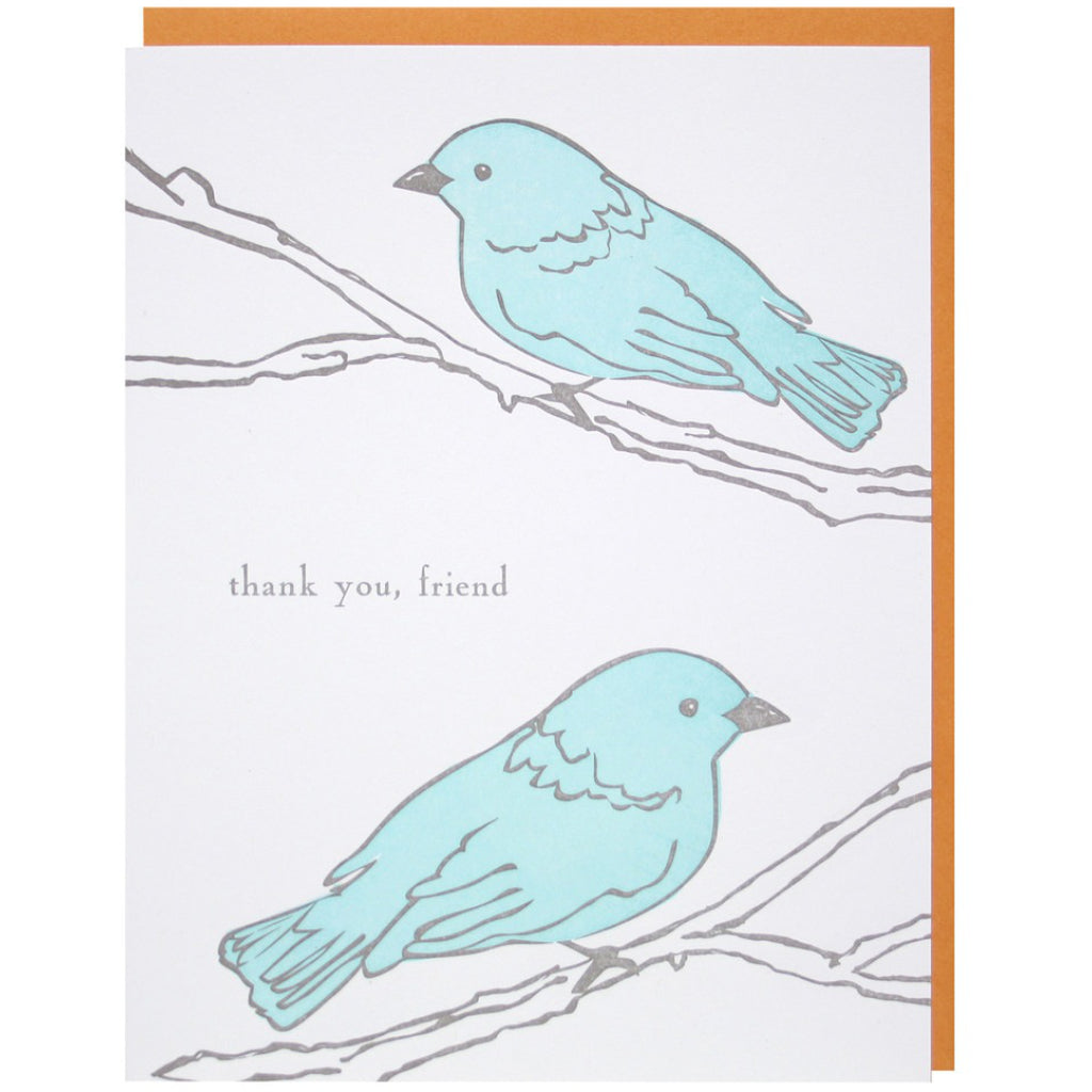 Two Birds on Branch Card