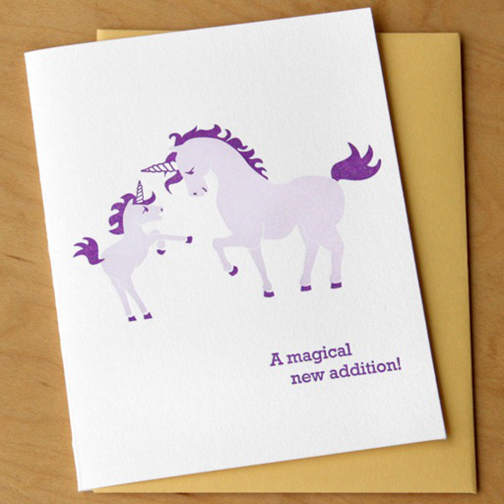 Unicorn Baby Card