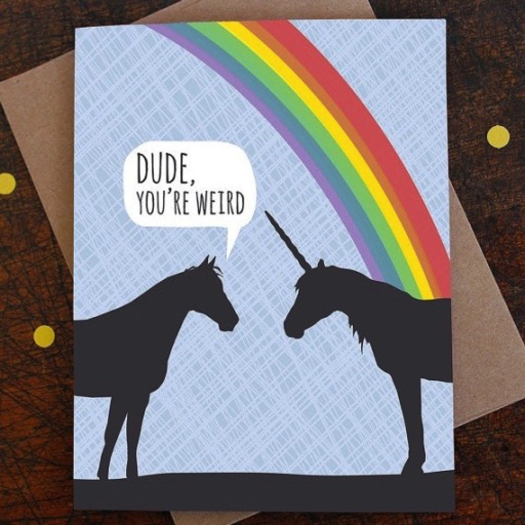 Unicorn Weird Card