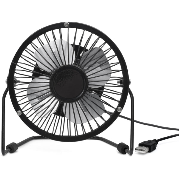 USB Metal Desk Fan Black