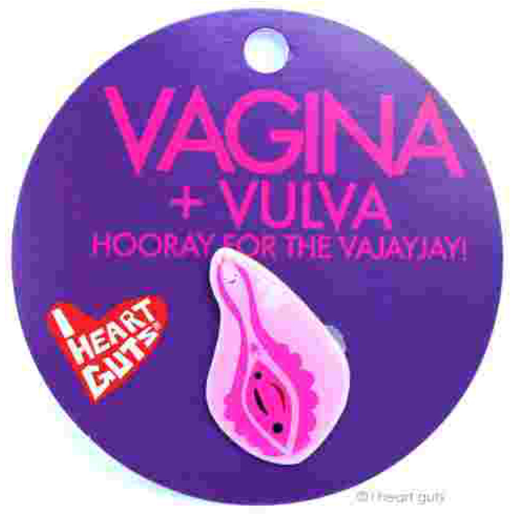 Vagina Lapel Pin package
