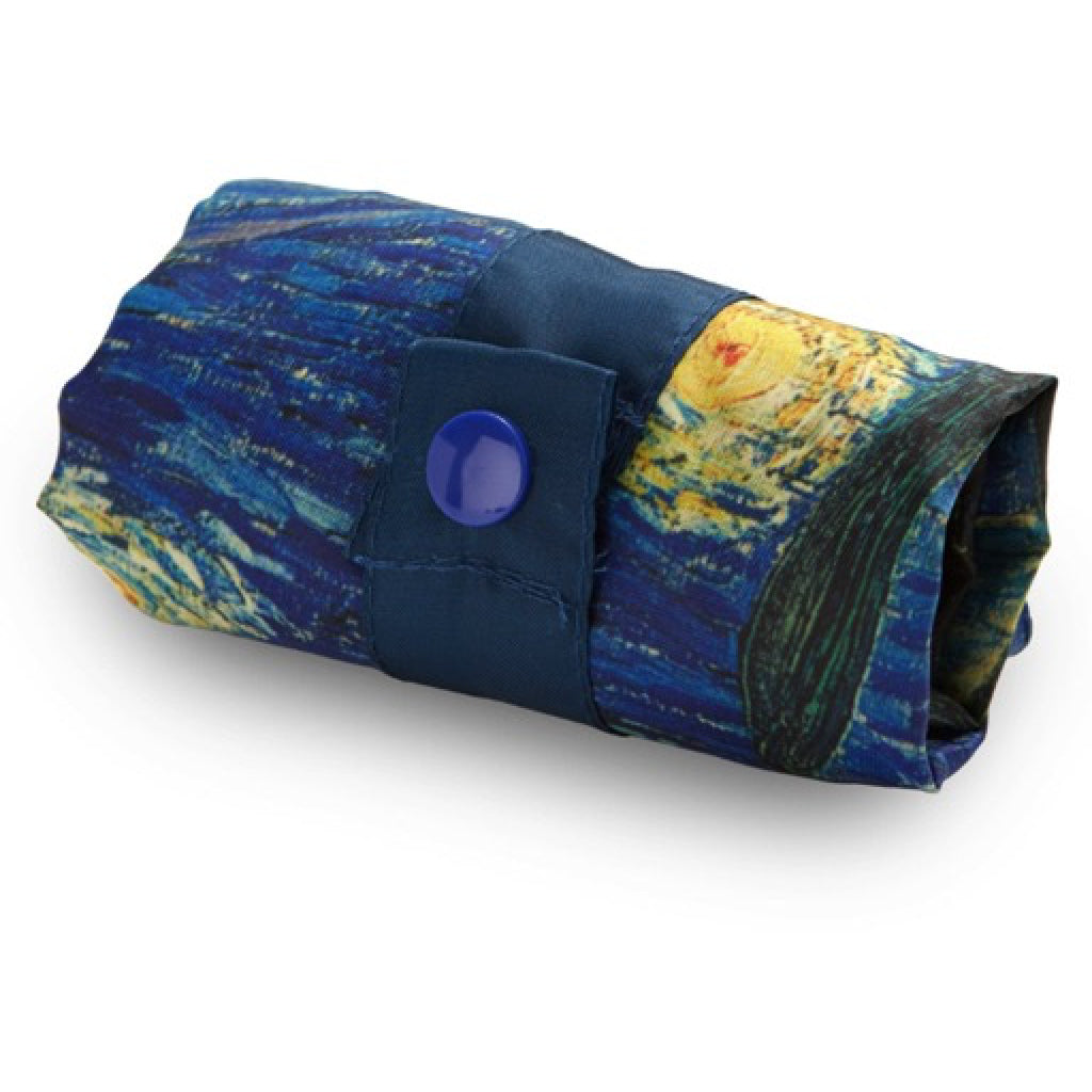 Van Gogh Starry Night Resusable Shopping Bag folded