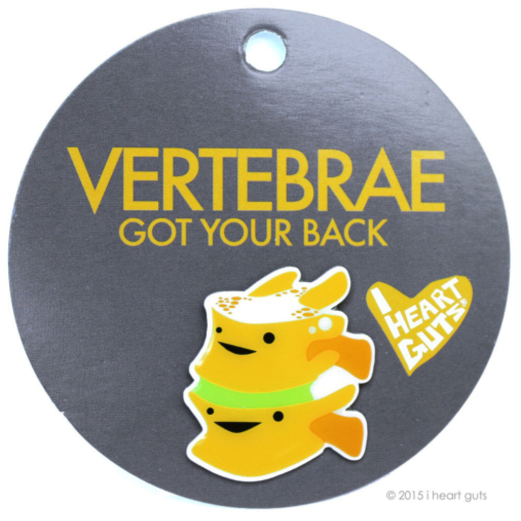 Vertebrae Lapel Pin package