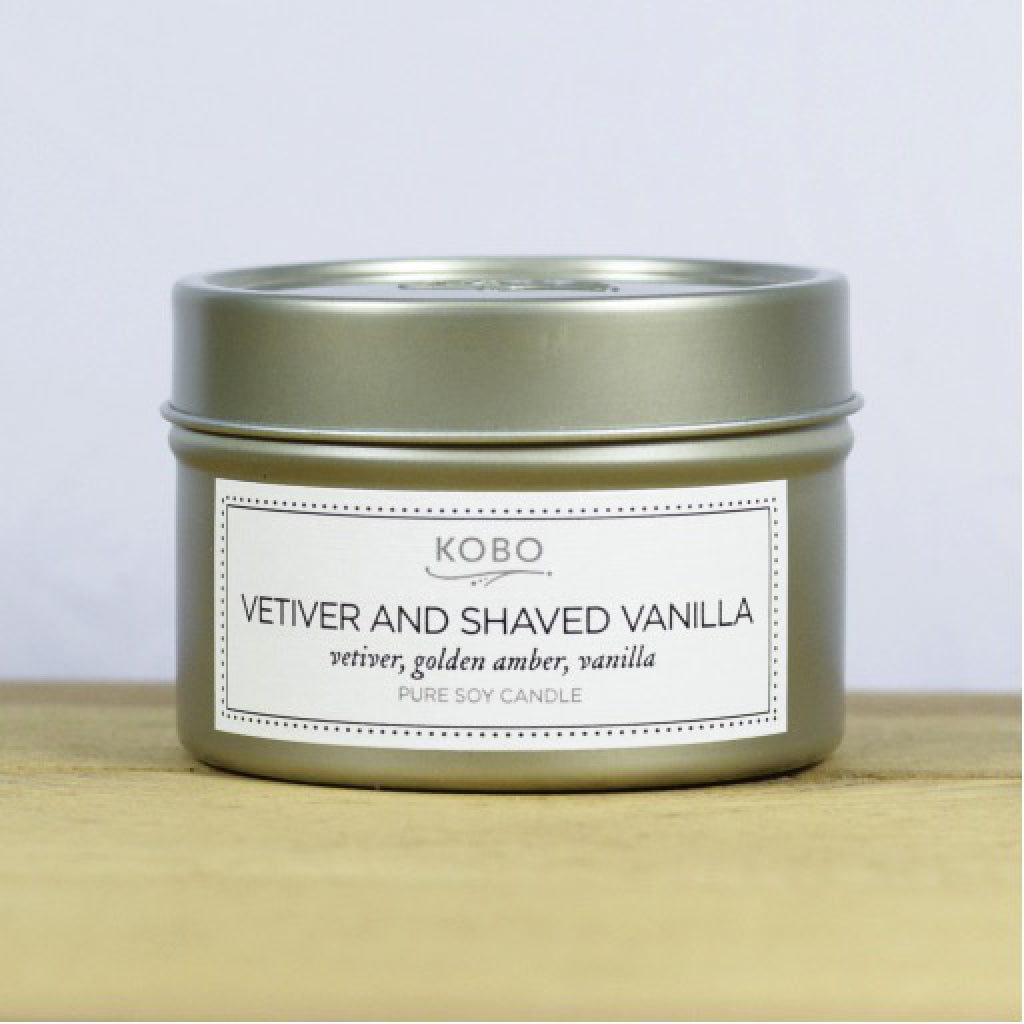 Vetiver & Shaved Vanilla Travel Candle