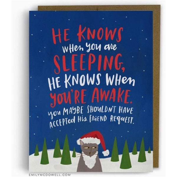 When You Are Sleeping Holiday Card