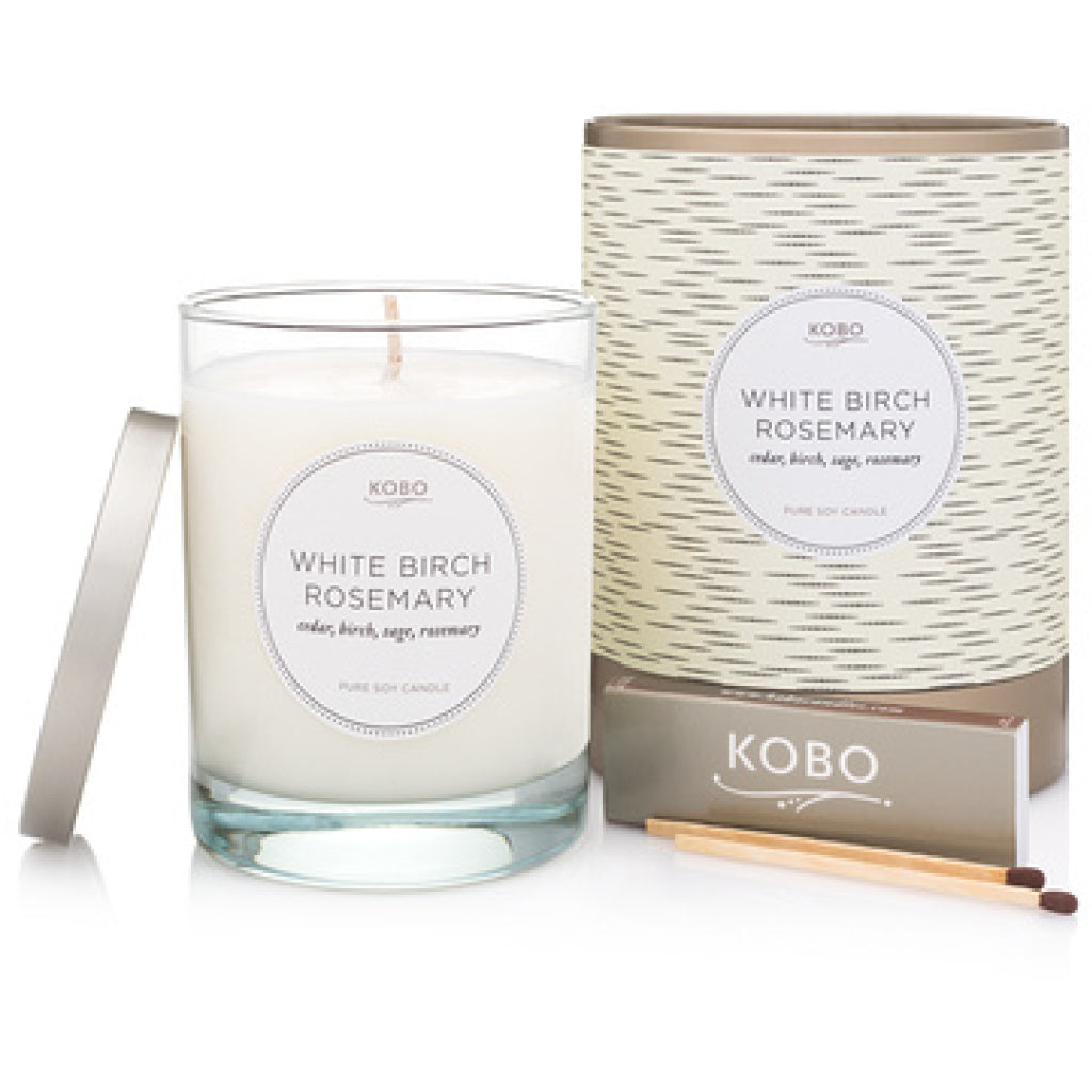 White Birch Rosemary Candle