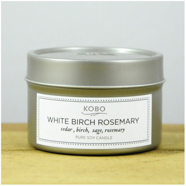 White Birch Rosemary Travel Candle