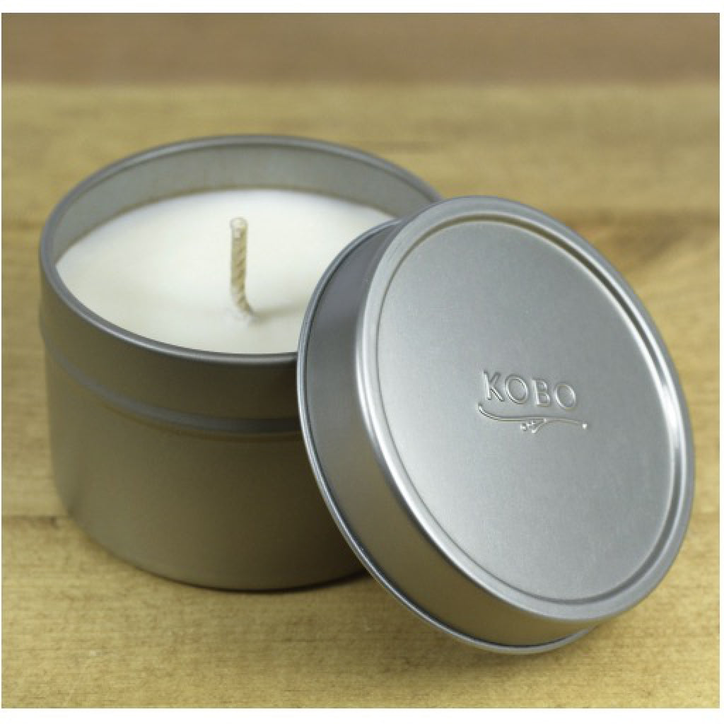 White Birch Rosemary Travel Candle top