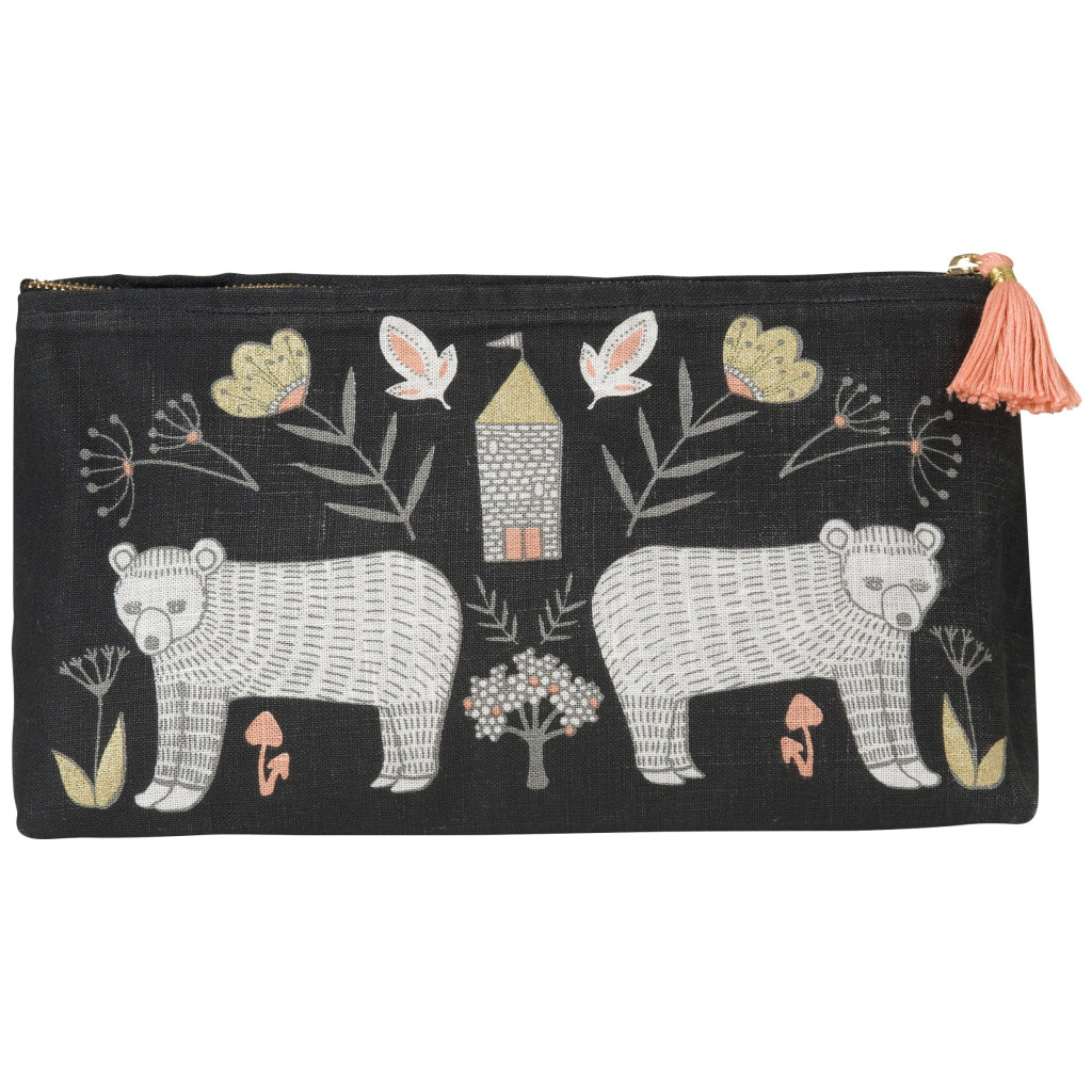 Wild Tale Linen Cosmetic Bag Large