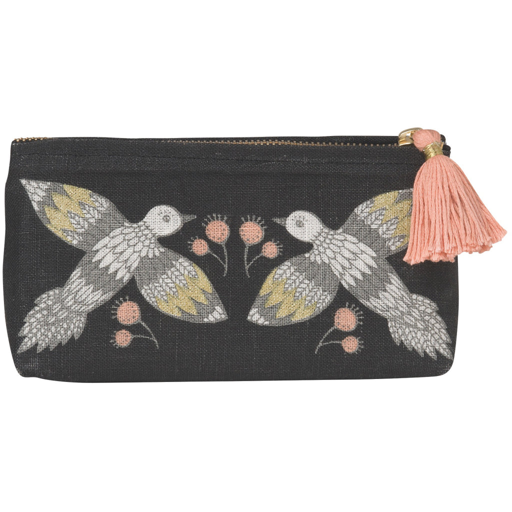 Wild Tale Linen Cosmetic Bag Pencil