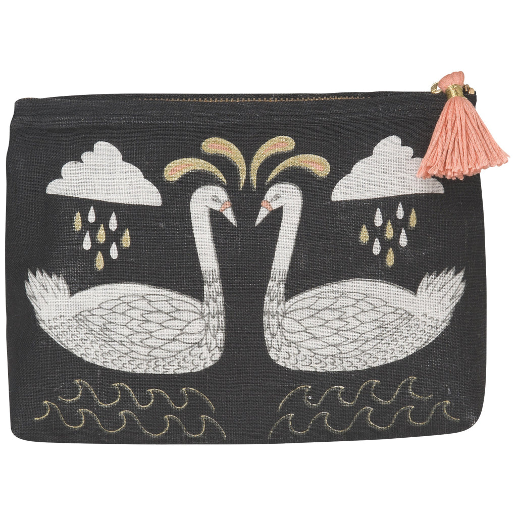 Wild Tale Linen Cosmetic Bag Small
