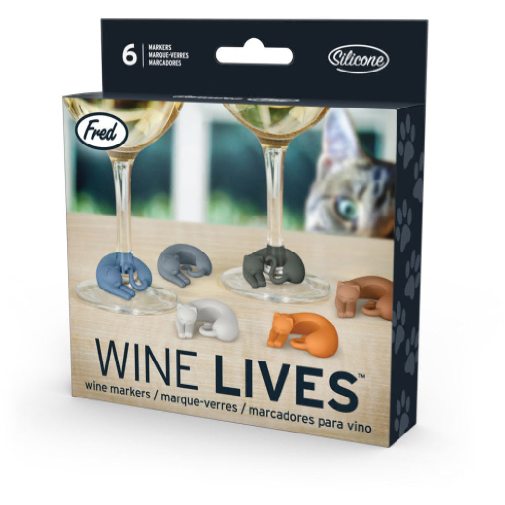 Wine Lives Kitty Wine Markers box