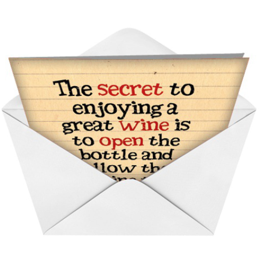 Wine to Breathe Card envelope