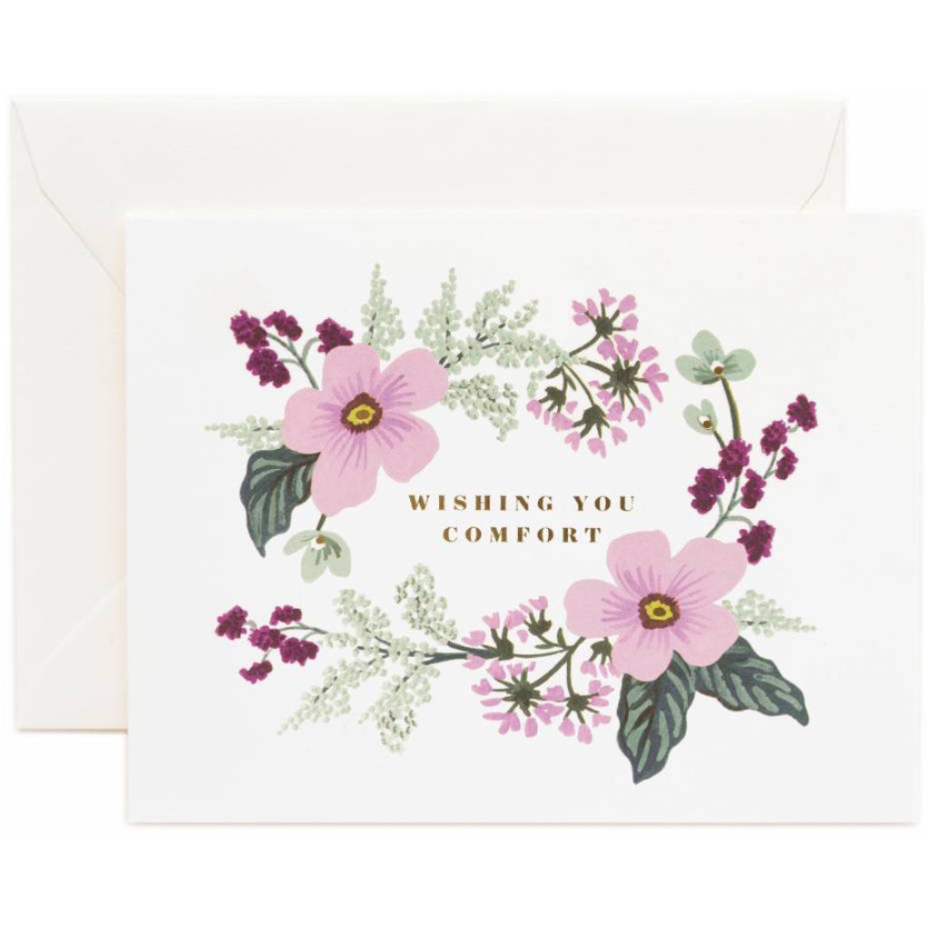 Wishing You Comfort Purple Bouquet Card