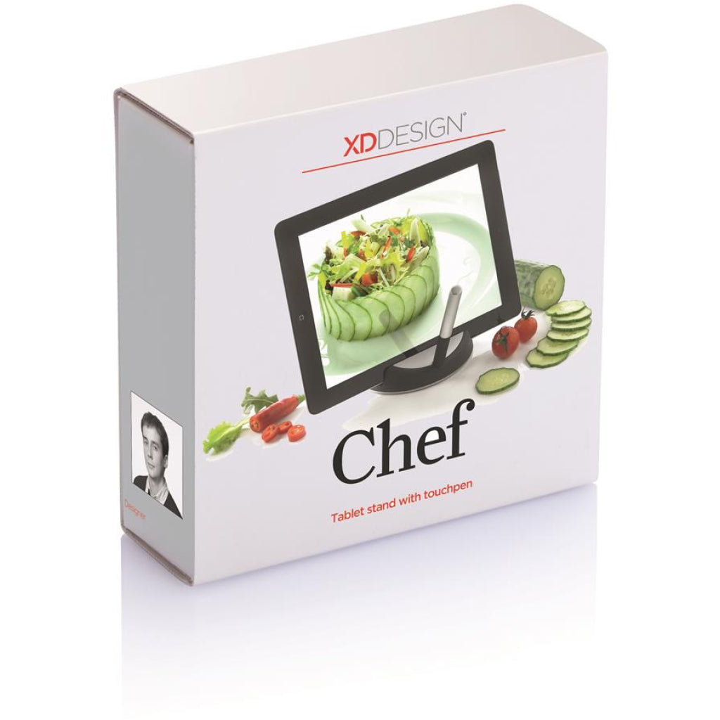 XD Design Chef Tablet Stand With Stylus package