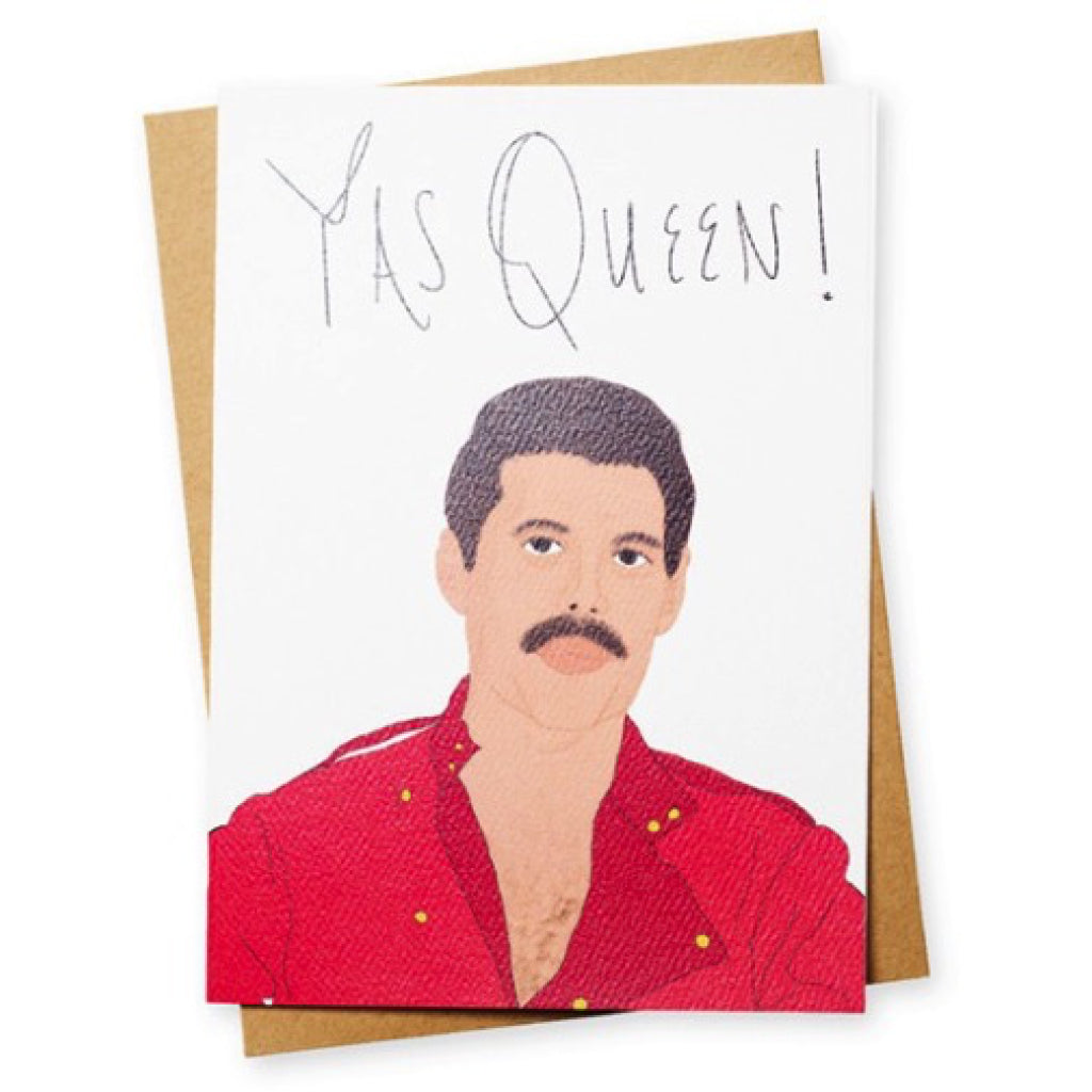 Yas Queen Freddie Mercury Greeting Card