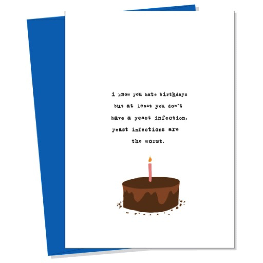 Yeast Infection Card By Uncooked Outer Layer