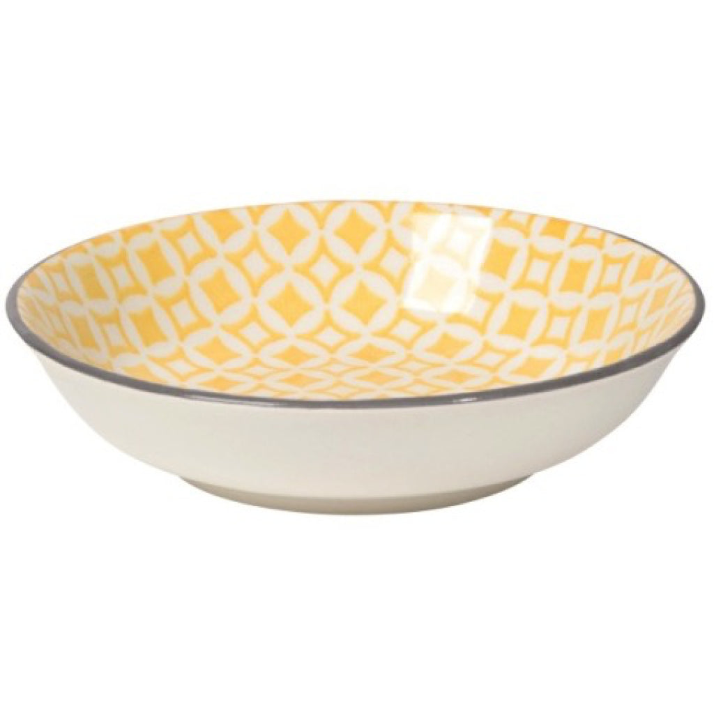 Yellow Diamonds Dip Bowl
