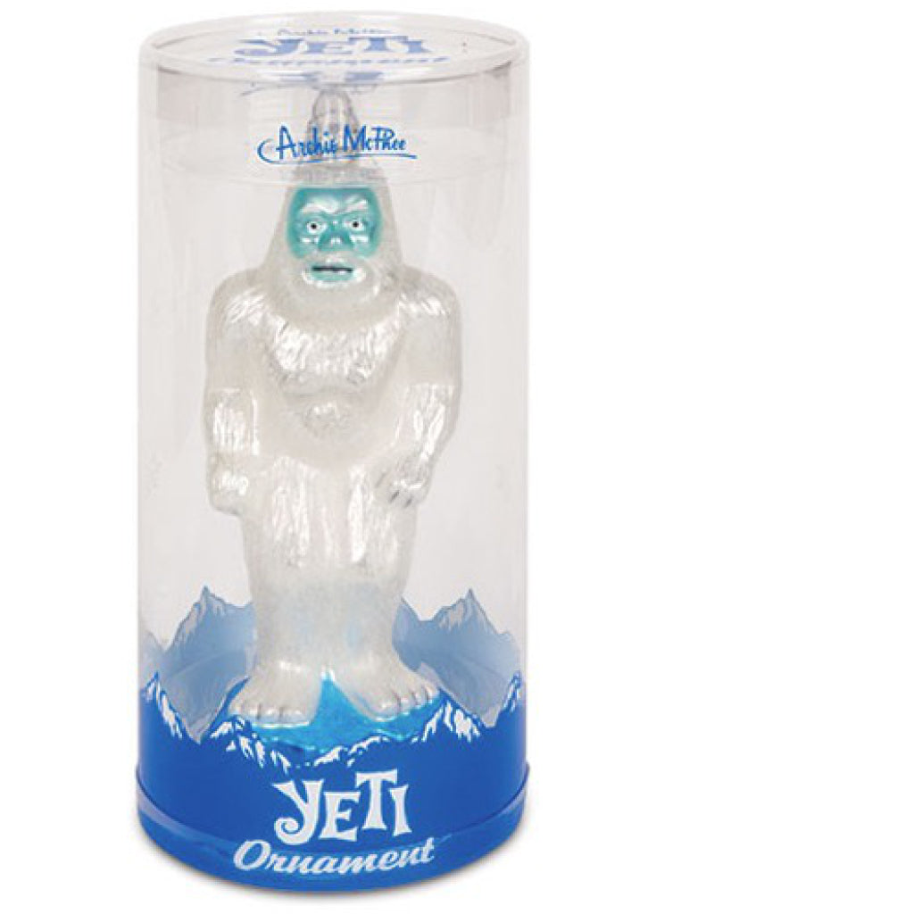 Yeti Glass Ornament package