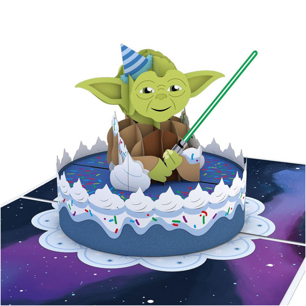 Yoda Birthday 3D Pop Up Card