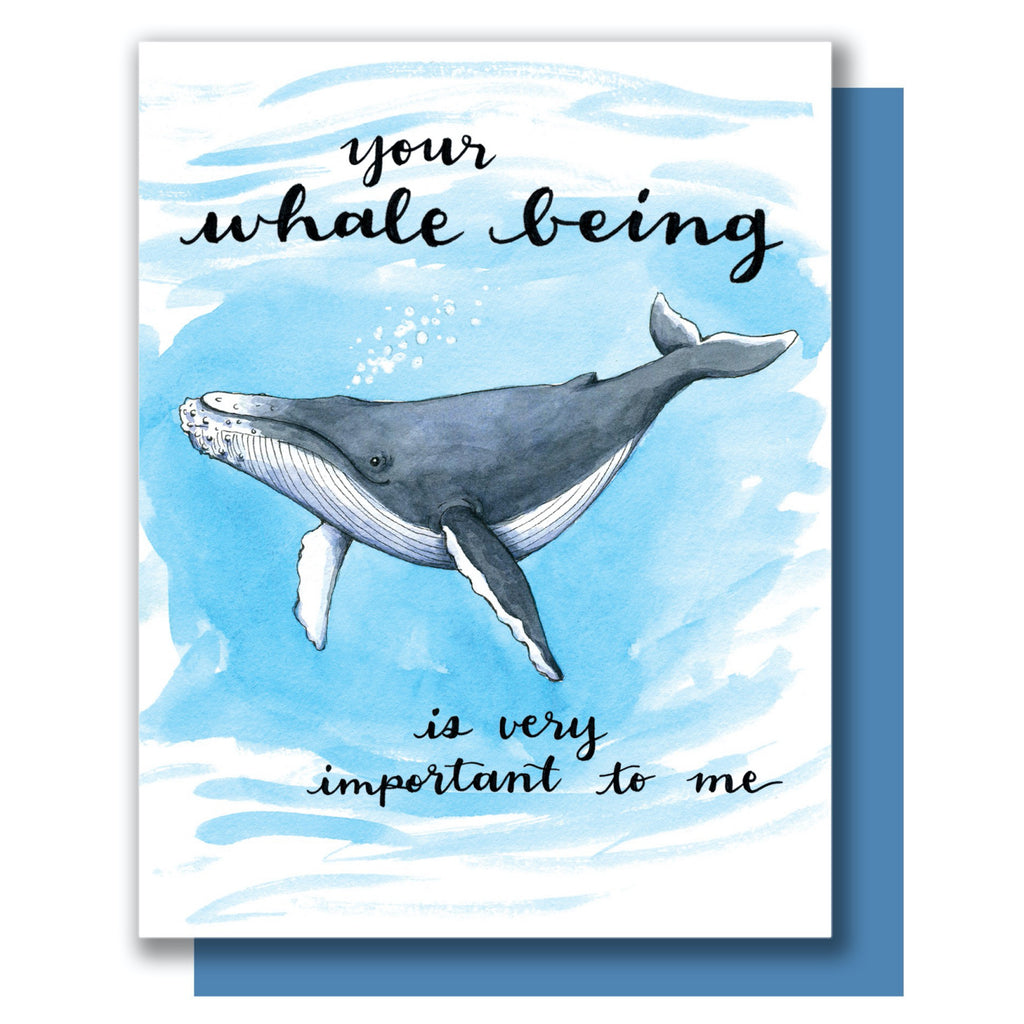 You're Whale Being Card