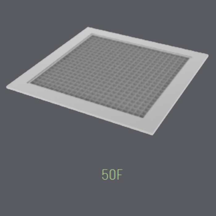 Surface Mount Eggcrate Return Grille w/ Screwholes (50F)