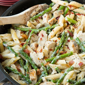 Penne With Chicken and Asparagus   5 Simple Recipes to Lower Cholesterol   Blog   Cerabeta