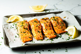 Oven-Baked Salmon   5 Simple Recipes to Lower Cholesterol   Cerabeta