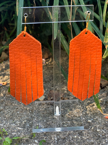 Wilds Leather Earrings