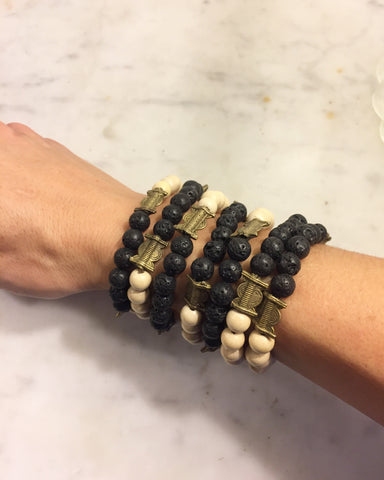 Essential Oil Bracelet- natural beads