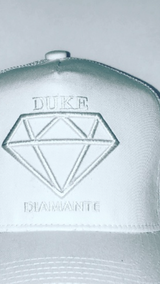 Duke Diamante White Trucker Cap