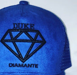 Duke Diamante Blue Suede Trucker Cap