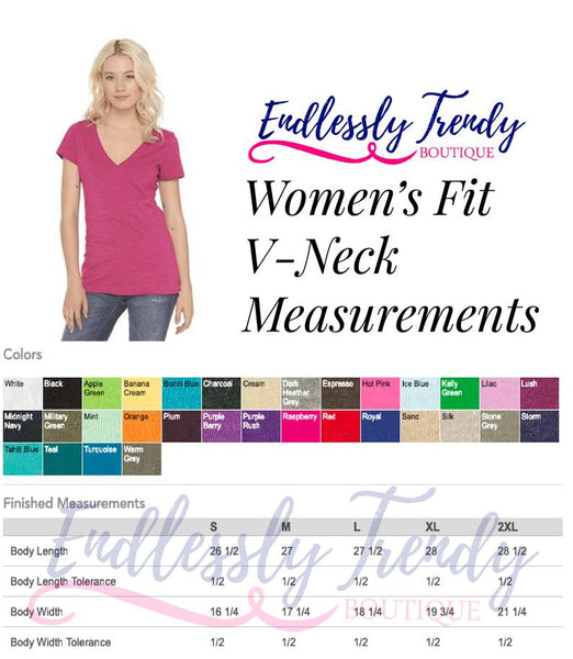 Vneck Sizing Endlessly Trendy