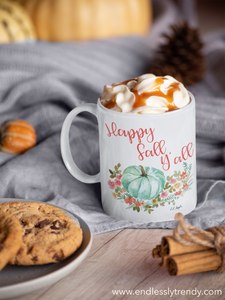 Happy Fall Y'all Coffee Mug - - Endlessly Trendy Boutique