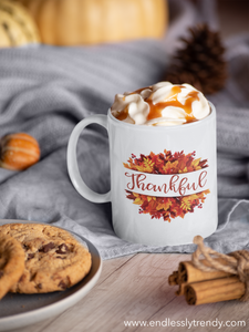 Thankful Coffee Mug - - Endlessly Trendy Boutique