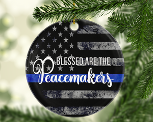 Blessed Are The Peacemakers Ornament - Shatterproof Acrylic Ornament  - - Endlessly Trendy Boutique
