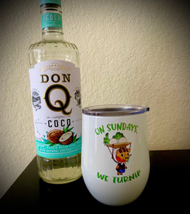 """On Sundays, We Turnip"" 12oz Insulated Wine Tumbler - Endlessly Trendy Boutique"